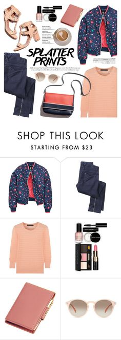 """""""Splatter Prints"""" by helenevlacho ❤ liked on Polyvore featuring Marc by Marc Jacobs, Bobbi Brown Cosmetics, Royce Leather, GlassesUSA, paintsplatter, contestentry and paintiton"""