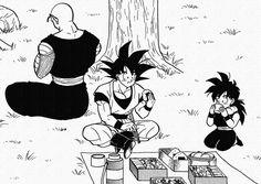 Piccolo, Gohan, and Goku