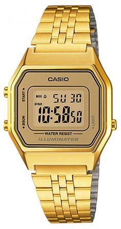 Wear the golden luck with casio gold watch Casio Gold Watch casio digital gold-tone stainless steel bracelet watch SQTZCWW Casio Classic, Retro Watches, Vintage Watches, Cool Watches, Wrist Watches, Unique Watches, Ladies Watches, Stylish Watches, Women's Watches