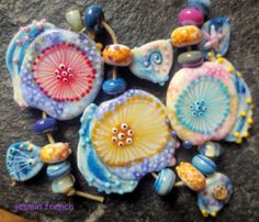 °° Jasmin French °° Medusas on Holiday Lampwork Beads Set SRA | eBay