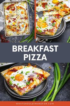 Pizza for breakfast? Top this homemade pizza dough with ham, cheese and eggs for this easy breakfast recipe! Healthy Egg Breakfast, Egg Recipes For Breakfast, Breakfast Pizza, Breakfast For Dinner, Breakfast Time, Breakfast Buffet, Breakfast Ideas, Healthy Family Dinners, Quick Weeknight Meals