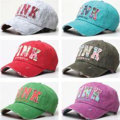 New Ladies Flower Print Pink Baseball Cap Women Vintage Washed Fashion Hat  B47  32bd33c35