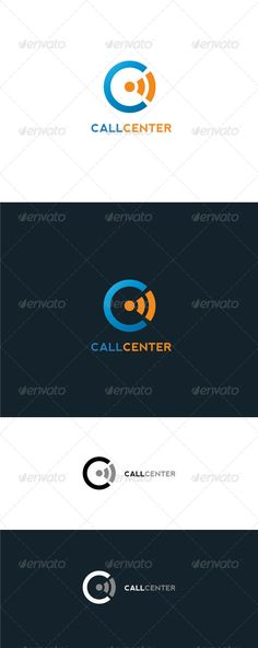 Call Center - Logo Design Template Vector #logotype Download it here: http://graphicriver.net/item/call-center-logo-template/6603702?s_rank=1709?ref=nexion