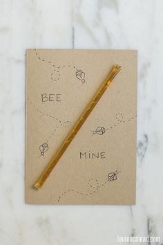 Create your own Bee Mine Valentine's Day card!