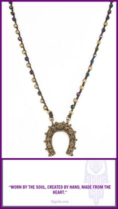 Grab this necklace for some extra Luck! Handmade in CA.