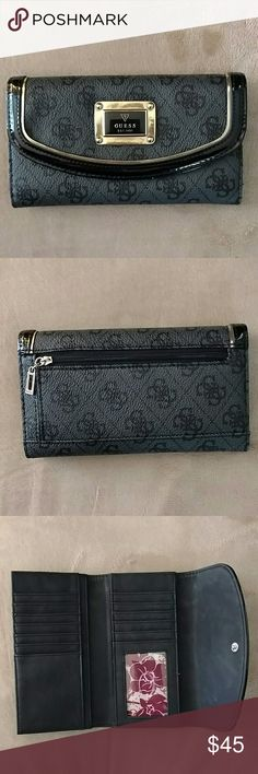 47e8f56b5a Authentic Black GUESS Wallet Purchased At Macy s Excellent pre loved  condition! I used it for