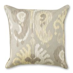 Desert Paisley Pillow Cover from Williams Sonoma.  Serene neutrals in this antique-inspired ikat print.