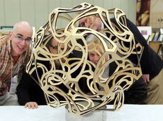 Whimsy -- mathematical sculpture by George Hart