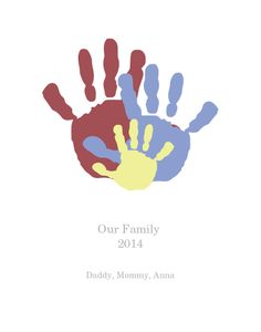 Family Handprint wall art! | Perfect gift for grandparents, aunts, and uncles | Great for living room or office decor | Created on @Handpressions|