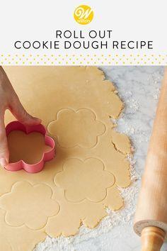 Roll-Out Cookie Recipe Recipe Roll Out Cookie Dough Recipe, Sugar Cookie Cutout Recipe, Roll Out Sugar Cookies, Cookie Dough Recipes, Sugar Cookie Dough, Delicious Cookie Recipes, Cut Out Cookies, Sugar Cookies Recipe, Yummy Cookies