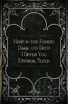 Here in the forest dark and deep, i offer you eternal sleep. This sounds like a line from a spooky story. I& love to read an awesomely scary story where this line is uttered in the dark by the villain. Halloween Humor, Halloween Tags, Halloween Kunst, Theme Halloween, Mexican Halloween, Holidays Halloween, Happy Halloween Banner, Happy Halloween Video, Story Inspiration