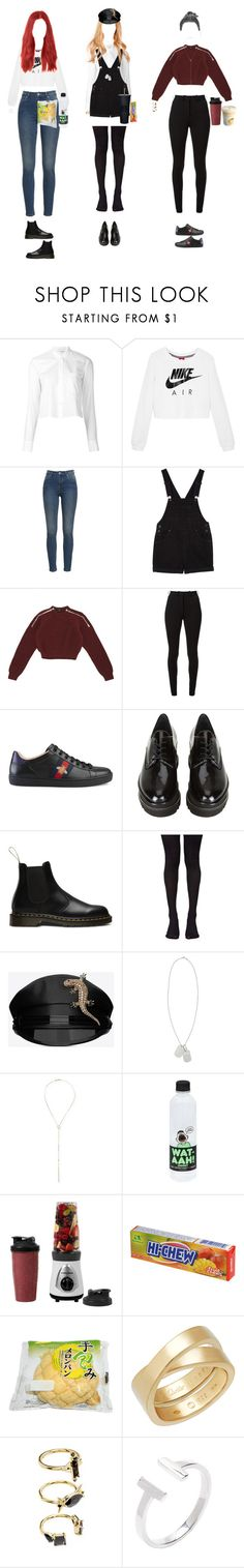 """""""(Melody)(Special Tv) Joining Melody on Lunch break pt.1"""" by k-p0p ❤ liked on Polyvore featuring Helmut Lang, NIKE, Monki, Gucci, Victoria Beckham, Stuart Weitzman, Dr. Martens, Music Legs, Yves Saint Laurent and Lana"""