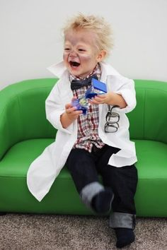 DIY Mad Scientist Halloween Costume - Lou Lou Girls