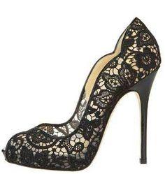 Jimmy Choo scalloped lace platform peep toes >> Shoeperwoman