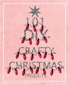 101 DIY Christmas crafts - great stuff on this blog!
