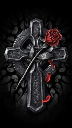 dark cross Wallpaper by - - Free on ZEDGE™ Cross Wallpaper, Gothic Wallpaper, Gothic Fantasy Art, Dark Fantasy, Aztecas Art, Gothic Crosses, Anne Stokes, Cross Tattoo Designs, Tribal Cross Tattoos