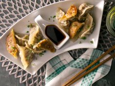 Better than take-out bc you control ingredients! Pork Dumplings from CookingChannelTV.com
