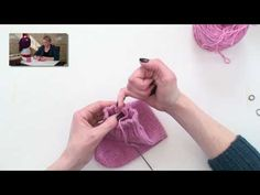 Magic loop knitting is a way to knit socks (or any tiny tube) by using a long circular needle instead of double-pointed needles.  These seven videos accompany a pattern available on verypink.com