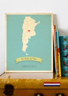 Buenos Aires Necklace Argentina Map Necklace Vintage Map Series - Argentina map for sale