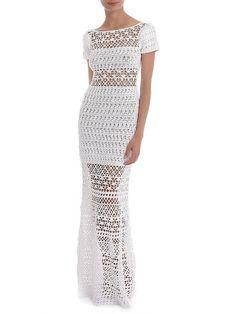 MADE TO ORDER  elegan crochet long sleeveless dress