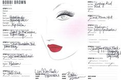 Kate Upton Gets Mega-Glam For Bobbi Brown #refinery29 http://www.refinery29.com/2014/06/70307/kate-upton-bobbi-brown-makeup-campaign#slide1 The face chart Bobbi created for Kate's look in the campaign.