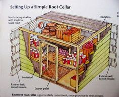 Root cellars are timelessly popular, eco friendly and cheap storage solutions that allow to keep food fresh for a few months