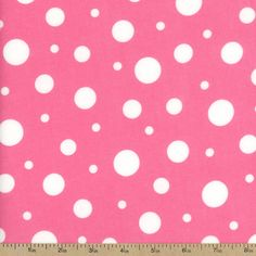 Cozy Cotton Variety Dot Flannel Fabric - Pink by Beverlys.com