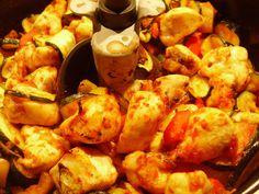 Poulet à la provençale (Actifry). Fries, Turkey, Healthy Eating, Chicken, Meat, Vegetables, Cooking, Food, Instant Pot