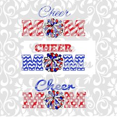 SVG Cheer Mom Pom Poms for  Silhouette or other craft cutters (.svg/.dxf/.eps)