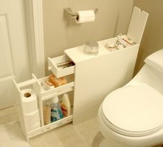Smart way to add a little extra storage in a small bathroom. Proman Bath Floor Cabinet - Space Savers at Hayneedle Home Organization, Small Spaces, Interior, Bathroom Floor Cabinets, Small Bathroom Storage, Bathroom Flooring, Storage, Bathroom Design, Bathroom Decor