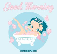 Good Morning! For 1,000's of Betty Boop images, go to: http://bettybooppicturesarchive.blogspot.com/ ~And on Facebook~ https://www.facebook.com/bettybooppictures  Betty Boop taking a Bubble Bath
