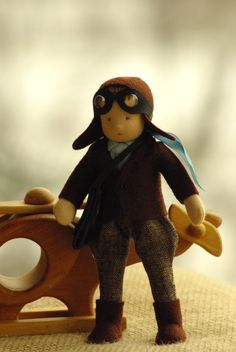 Pilot waldorf doll good friend for boy // original by TaleWorld