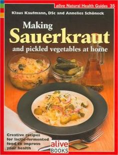 Learn the health benefits of sauerkraut and how to make it at home with this Making Sauerkraut and Pickled vegetables cookbook. http://www.veggiesensations.com/collections/specialty-books/products/making-sauerkraut-and-pickled-vegetables