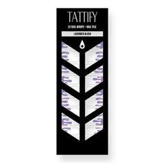 Tattify Purple Drip Nail Wraps - Lavender Blush (Set of 22)