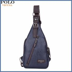 cfc001200c16 VICUNA POLO Famous Brand Theftproof Magnetic Button Open Leather Mens Chest Bags  Fashion Travel Crossbody Bag