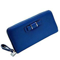 Womens Zip Around Wallet and Phone Clutch,Travel Purse Leather Clutch Bag Card Holder Organizer Wristlets Wallets,Pattern Ducks