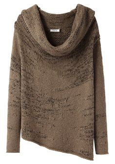 Helmut Lang / Willowed Cord Cowlneck Sweater