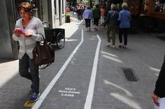 'Text Walking Lanes' Installed in Belgium to Prevent Distracted Pedestrians From Colliding
