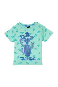 T-shirt imprimé tropical, Du 2 au 5 ans