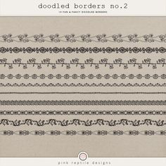 Doodled Borders no.2 http://the-lilypad.com/store/Doodled-Borders-no.2.html