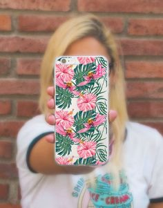 funda-movil-flores-tropical-3 Estilo Tropical, Phone Cases, See Through, Mobile Cases, Roses, Flowers, Phone Case