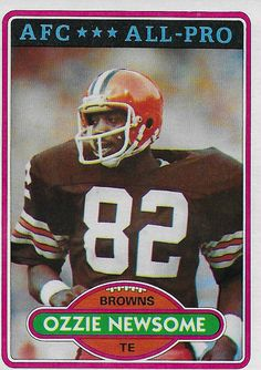 ac3bf75d7 1980 Topps Ozzie Newsome Football Cards