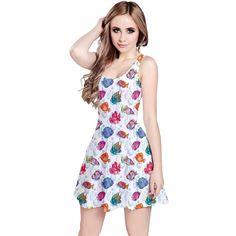 15.99 Colorful Sea Pattern Tropical Fish Medusa Ocean Short Sleeve Skater  Dress  Amazon Fashion Tropical c8da9de10