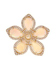 Diamond, opal & yellow-gold flower ring | Nsr Nina Runsdorf | ...