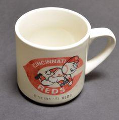 SOLD! Vintage CINCINNATI REDS Coffee Tea Mug Cup #CincinnatiReds