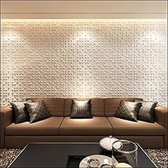 NEUHOLZ® 6m² Pannelli murali 3D Rivestimento murale Pannello Piastrelle Coral Gables, Couch, Furniture, Home Decor, Shopping, Settee, Decoration Home, Sofa, Room Decor