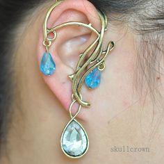 New Gothic Punk Retro Vines Leaf Drop Ear Cuff Wrap Clip Earring Tassel Earring | eBay