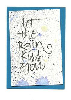 ATC, Rain (Artist Trading Card) JLH