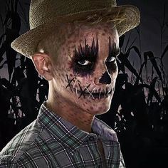 Makeup Artist Andrew Carter achieved this #Halloween scarecrow look with #CoverFX