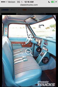 42 ideas for truck interior chevy Chevy C10, 67 72 Chevy Truck, Chevy Pickups, Lifted Chevy, C10 Trucks, Ford Pickup Trucks, Truck Mods, Chevrolet 1957, Truck Interior Accessories